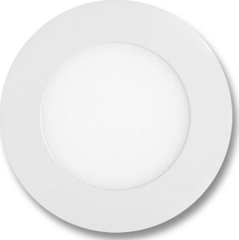 Weißes rundes LED Einbaupanel 120mm 6W Warmweiß
