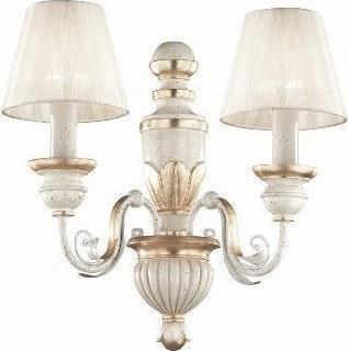 Ideal lux LED flora ap2 nástenné svietidlo 2x5W 52700