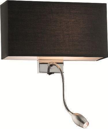 Ideal lux LED hotel ap2 nero Wandleuchte 5W 35956