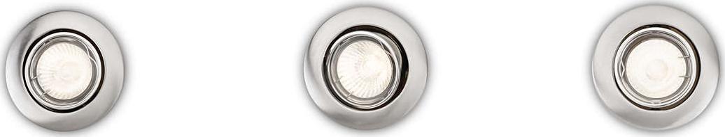 Philips LED enif svietidlo zápustné nikl set 3x5W 59243/17/E7