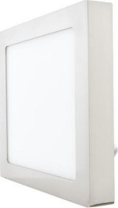Chromový angebauter LED panel 175 x 175mm 12W Warmweiß