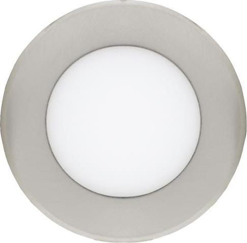 Chromový kruhový zabudovateľný LED panel 120mm 6W teplá biela
