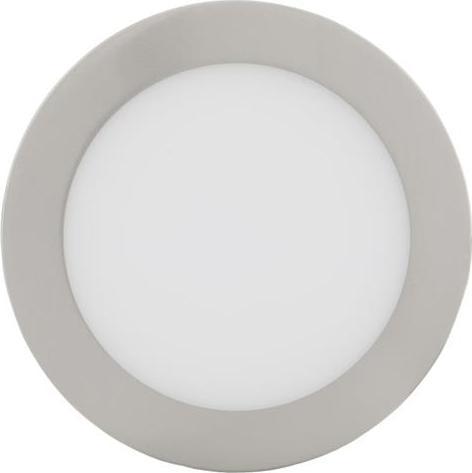 Chromový kruhový zabudovateľný LED panel 175mm 12W denná biela