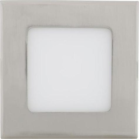 Chrom Einbau-Panel 120 x 120mm 6W Warmweiß