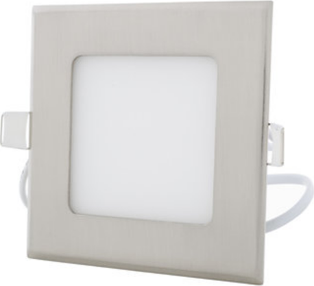 Chromový eingebauter LED panel 120 x 120mm 6W Warmweiß