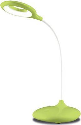 Stmievateľná LED stolná lampa 5W zelená s baterií