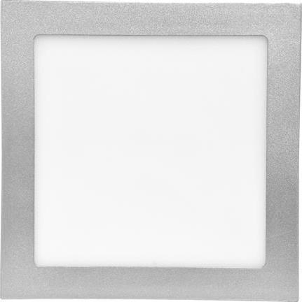 Strieborný zabudovateľný LED panel 155 x 155 mm 15W teplá biela
