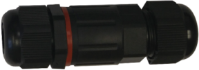 Čierna kábelová vodotesná spojka I SCJ IP68 2x 1,5
