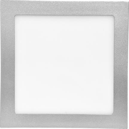 Strieborný zabudovateľný LED panel 200 x 200 mm 15W biela