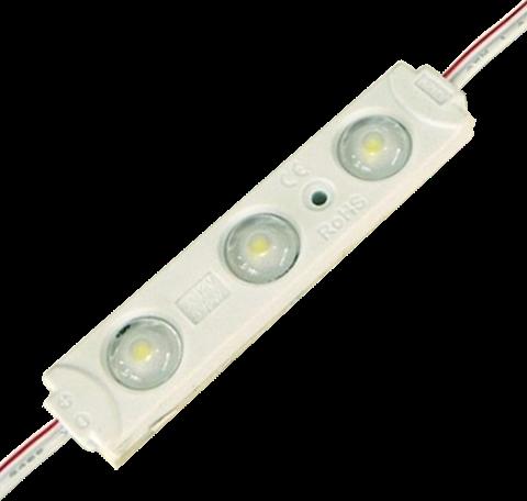 LED modul 0,72W 12V 3x čip studená biela