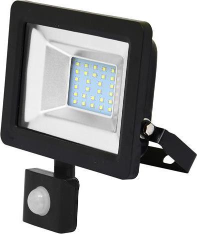 Shwarz LED Strahler 20W city mit sensor 5000K Tageslicht