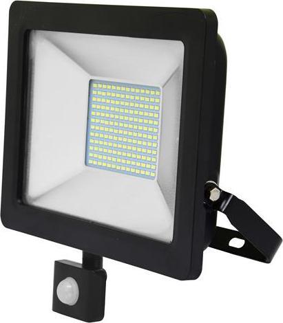 Shwarz LED Strahler 50W city mit sensor 5000K Tageslicht
