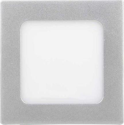 Silber LED Einbaupanel 120 x 120 mm 6W Kaltweiß