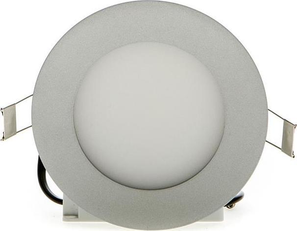 Silber rundes LED Einbaupanel 120mm 6W Kaltweiß dimmbar