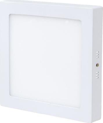 Biely prisadený LED panel 225 x 225mm 18W teplá biela