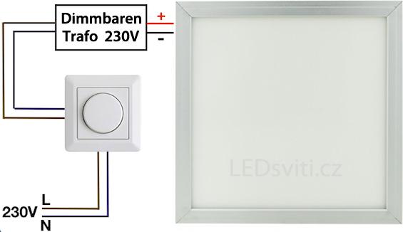 weisser haengender led panel 600 x 600mm 48w tageslicht gute leds de. Black Bedroom Furniture Sets. Home Design Ideas
