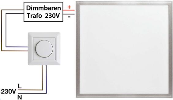 siberner haengender led panel 600 x 600mm 48w tageslicht gute leds de. Black Bedroom Furniture Sets. Home Design Ideas