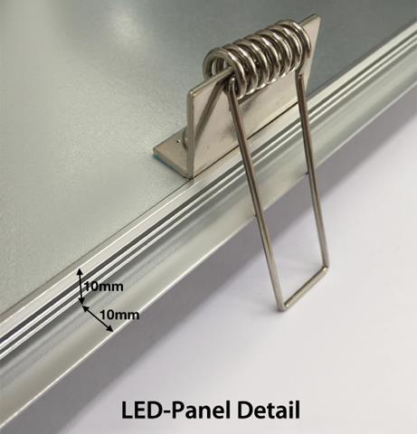 Chrom Einbau-Panel 175 x 175mm 12W Tageslicht