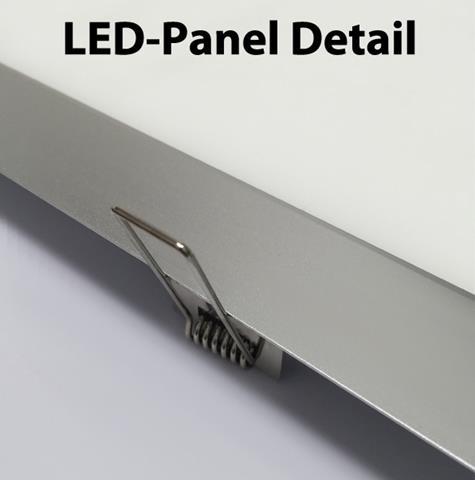 Chrom LED Einbaupanel 300 x 300mm 25W Tageslicht