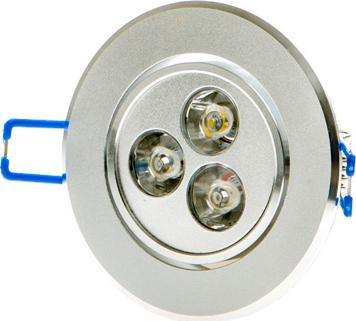 LED spotlicht 3x 1W Tageslicht