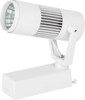 Biely fazovy lištový LED reflektor 10W teplá biela