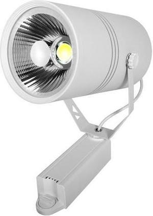 Biely fazovy lištový LED reflektor 30W teplá biela