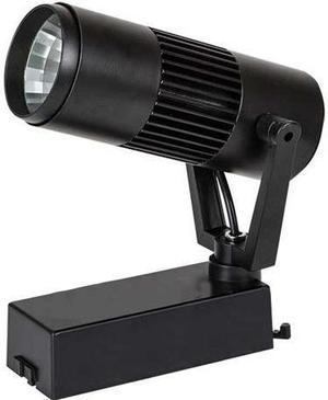 Čierny fazovy lištový LED reflektor 10W teplá biela