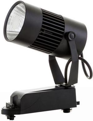 Čierny fazovy lištový LED reflektor 20W teplá biela