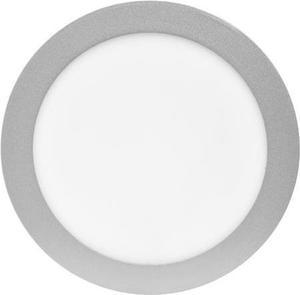 Strieborný kruhový vstavaný LED panel 175mm 12W teplá biela