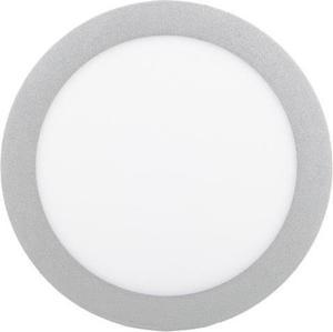 Strieborný kruhový vstavaný LED panel 225mm 18W teplá biela