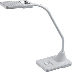 LED stolná lampa 5W 12 SMD strieborná