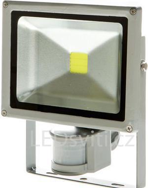 LED reflektor s pohybovým snímačom 30W biela