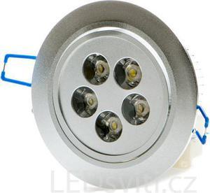 LED bodové svietidlo 5x 1W biela