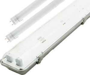 LED trubicové teleso 120cm + 2x LED trubica teplá biela