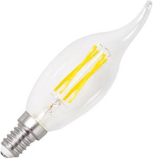 LED žiarovka E14 retro 4W sviečka teplá biela