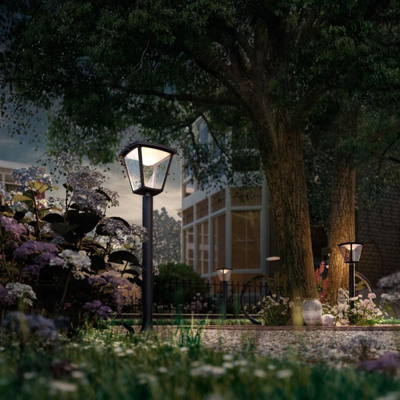Philips LED Cottage vonkajší stĺpik vysoký biela 4,5W 15484/30/16