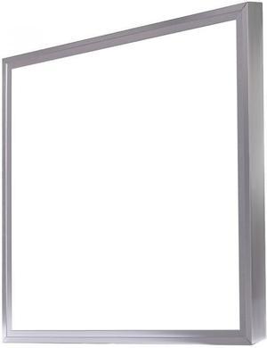 Strieborný LED panel s rámčekom 600 x 600mm 48W teplá biela
