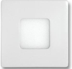 Biely vstavaný LED panel 90 x 90mm 3W teplá biela