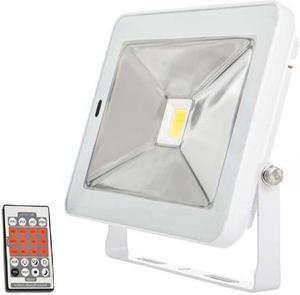 Biely LED reflektor s pohybovým snímačom 30W SLIM neutrálna biela
