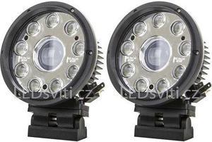 2x guĺatý predný LED svetlomet s diaľkovým svetlom 42W 12 36V
