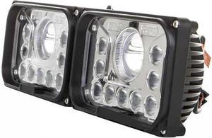 Hranatý predné LED svetlomet s diaľkovým svetlom 42W 12 36V 2ks