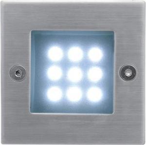 Vstavané vonkajšie LED svietidlo 70 x 70mm studená biela