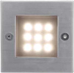 Vstavané vonkajšie LED svietidlo 70 x 70mm teplá biela