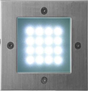 Vstavané vonkajšie LED svietidlo 105 x 105mm studená biela