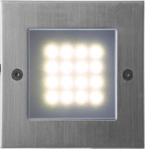 Vstavané vonkajšie LED svietidlo 105 x 105mm teplá biela