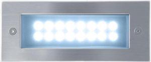 Vstavané vonkajšie LED svietidlo 70 x 170mm studená biela