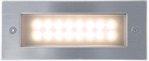 Vstavané vonkajšie LED svietidlo 70 x 170mm teplá biela