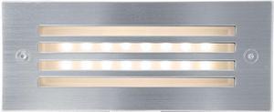 Vstavané vonkajšie LED svietidlo s mriežkou 70 x 170mm teplá biela