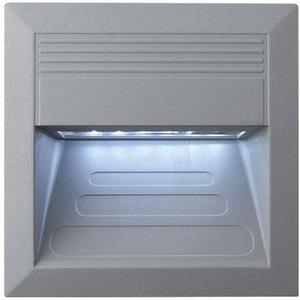 Vstavané vonkajšie LED svietidlo 135 x 135mm studená biela