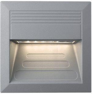 Vstavané vonkajšie LED svietidlo 135 x 135mm teplá biela